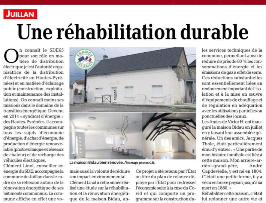 Une réhabilitation durable